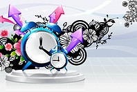 Alarm clock with flora design