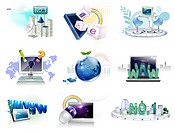 Electronics gadgets and web icon set (thumbnail)