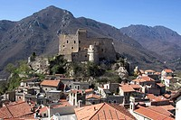 Italy, Liguria, Castelvecchio di Rocca Barbena, Castello dei Clavesana.
