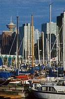 Canada, Vancouver, downtown skyline