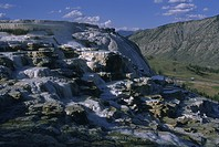 Mammoth Hot Springs and sulpher deposits, Yellowstone park, Wyoming