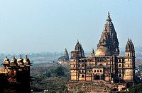 India, Orchha, Madhya Pradesh, Old city palaces