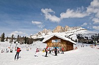 Italy, Trentino, Carezza, ski slope