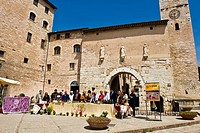 Italy, Umbria, Spello, Porta Consolare, The city gates