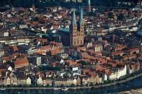Germany, Schleswig_Holstein, Lubeck, aerial view