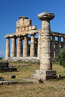 Italy, Campania, Paestum, Athena temple