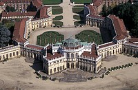 Piedmont, Turin, the Stupinigi royal palace, aerial view