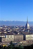 Italy, Piedmont, Turin, skyline of the city