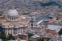 Lazio, Rome, Vatican aerial view