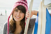 Teenage girl wearing hat, portrait