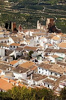 Zuheros village and castle. Cordoba, Andalusia, Spain