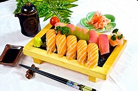 Japanese Food, Menu of 5 Salmon &amp; Tuna Sushi