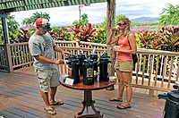 Visitors Sample Coffee Kauai Plantation Eleele Hawaii