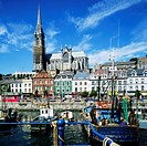 Harbour &amp; St Colman's cathedral, Cobh, County Cork, Ireland