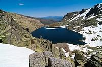 Trampal lagoons in the Sierra de Bejar Salamanca Castilla y Leon Spain Europe