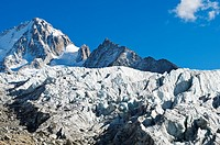 View from the Glacier du Tour with the Aiguille du Chardonet behind, Chamonix, Alps, Haute-Savoie, France