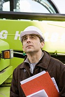 Property developer in hard hat, portrait