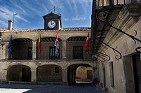 Plaza Mayor de la Villa de Pedraza, Segovia, Castilla y Leon, Spain