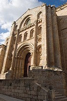 Bishop Door, Savior Cathedral, Zamora, Castilla y Leon, Spain