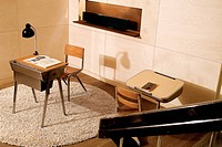 Interior design with table and chair