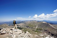 Man standing on top of mountain in Colorado