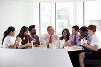 Informal business lunch meeting