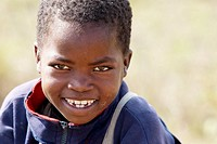 Child smiling, Mozambique