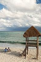 Couple on Beach in Isla Cozumel