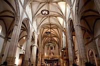 Interior of Alcala de Henares Cathedral, Madrid, Spain