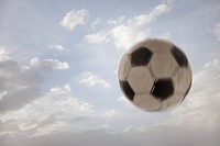 Soccer ball against sky