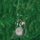 Arecibo Observatory, GeoEye_1 satellite image. North is at top. This radio telescope is the world´s largest_ever single_aperture telescope. Located in...