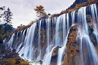Nuorilang waterfall, Jiuzhaigou valley, China
