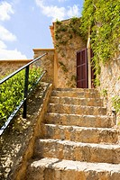 Stone steps on villa stairway (thumbnail)