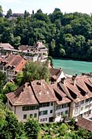 Bern (Switzerland): houses by the Aar River