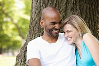Young couple sharing a laugh