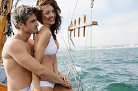Couple on boat trip