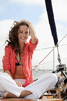 Woman on boat trip
