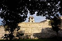 The tower of the Palace in the ancient Mayan city of Palenque, Chiapas, Mexico