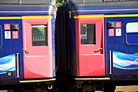 Great Western train doors carriage detail