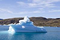 Yacht_shaped iceberg at Qooroq Fjord, Narsarsuaq, Kitaa, Greenland