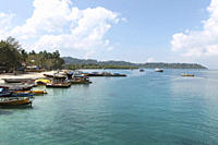 Boats at port of village 1, Havelock Island, Andamans, India