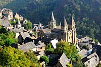 The Sainte-Foy abbey-church in Conques, Aveyron, Midi-Pyrénées, France.