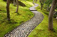 Moss Garden, Hakone Museum of Art, Hakone, Kanagawa, Japan.