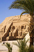 Temple of Rameses II. in the sunlight, Abu Simbel, Egypt, Africa