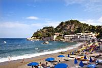 Beach, Mazzaro, Taormina, Sicily, Italy