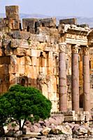 Great courtyard, archaelogical site of Baalbek,UNESCO World Heritage Site  Bekaa valley  Lebanon