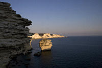 Sun set on the cliffs near Bonifacio, Corsica