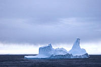 Weathered iceberg on Bismarck Strait, Antarctic Peninsula A4 only