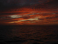 The famous colous of a Red Sea Sunset Taken on a liveaboard Red Sea Egypt