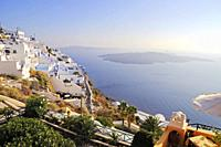 Stunning scenery of Santorinin island with caldera view